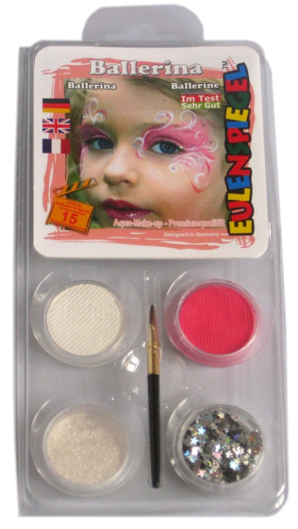 Designer A Face Pack Ballerina Face Body Paint Makeup Fancy Dress