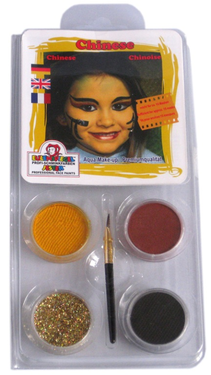 Designer A Face Pack Chinese Face Body Paint Makeup Fancy Dress
