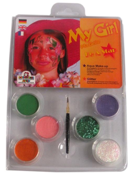 Designer A Face Pack - My Girl Face Body Paint Makeup Fancy Dress