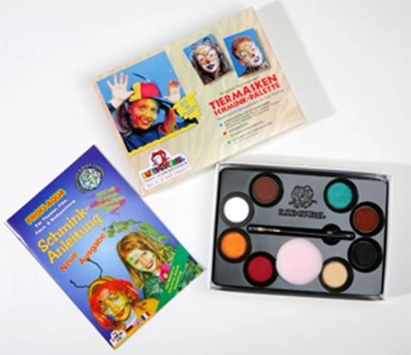 8 Colour Palette Animal Make-up Boxed Face Body Paint Makeup Fancy Dress