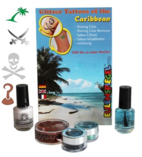Glitter Tattoo Designer Sets -Caribbean Cosmetics Makeup