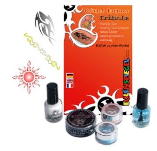 Glitter Tattoo Designer Sets -Tribals Cosmetics Makeup