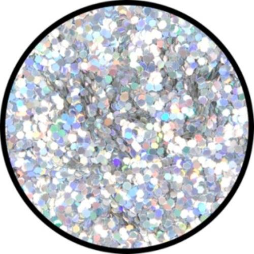 Glitter - Holographic Jewel Silver Roug Cosmetics Makeup