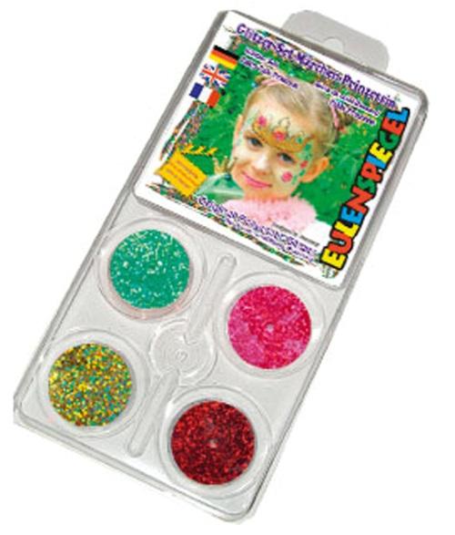 Glitter Motif Set Face Fairy Princess Face Body Paint Makeup Fancy Dress