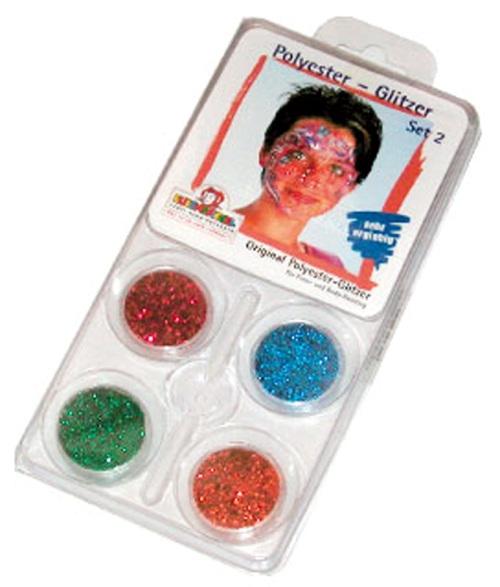 Glitter Motif Set Designer 2 Face Body Paint Makeup Fancy Dress