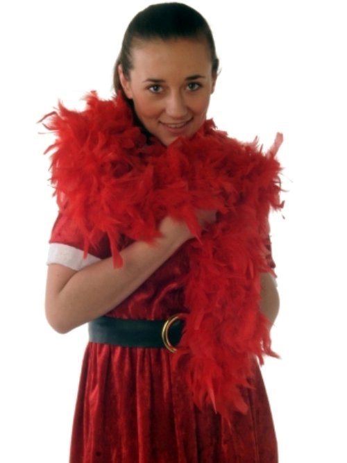 Boas 1.8m Red Feather Garland Moulin Rouge 20s Fancy Dress Accessory