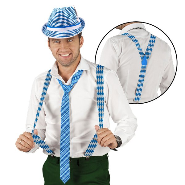 Oktoberfest Braces Accessory Belt Fancy Dress