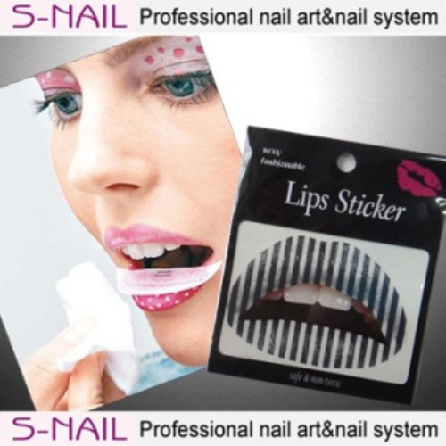 Lip Tattoo 2 in Packet Black Stripes Face Body Paint Makeup