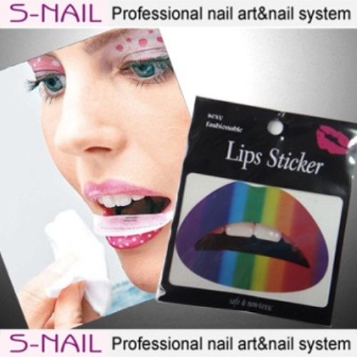 Lip Tattoo 2 in Packet Rainbow Face Body Paint Makeup