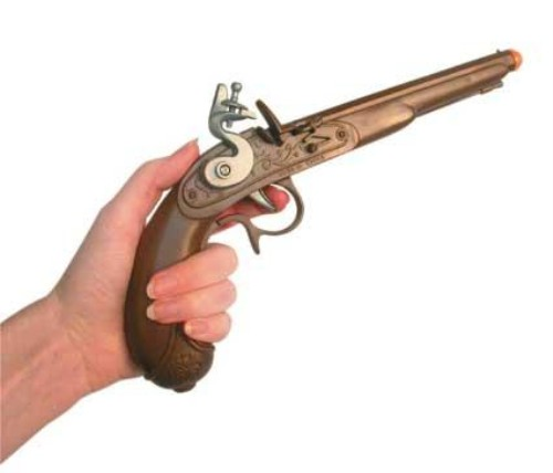 Fancy Dress Costume Accessory: Pirate Pistol  Plastic