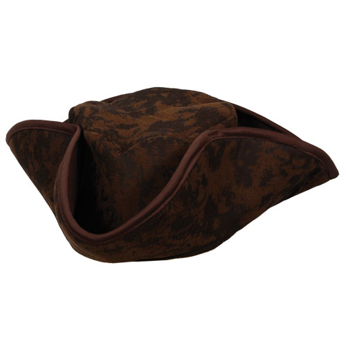 Caribbean Pirate Hat Brown for Fancy Dress Party Accessory