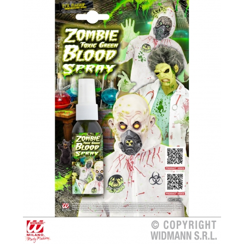 Zombie Toxic Green Blood Spray Makeup for Halloween Stage Accessory