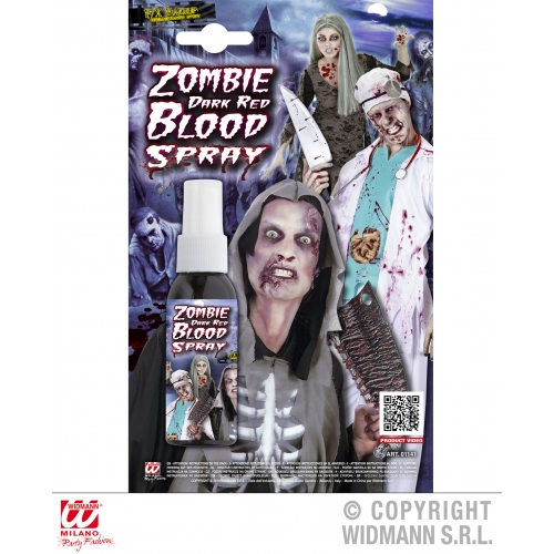Zombie Dark Red Blood Spray Makeup for Halloween Stage Accessory