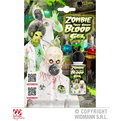 Zombie Toxic Green Blood Gel Makeup for Halloween Stage Accessory