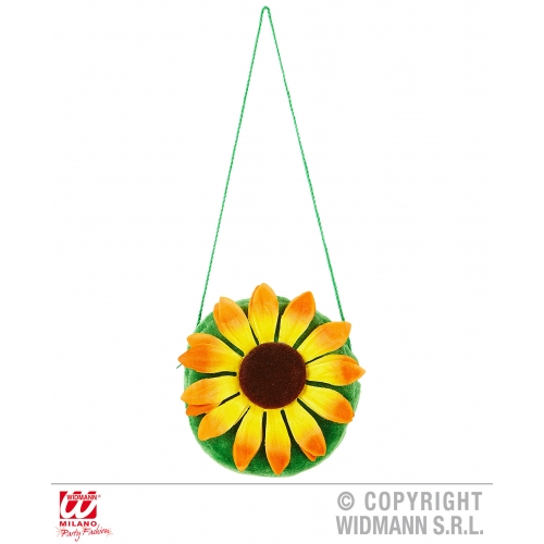 Sunflower Handbag Novelty Prop for Easter Fancy Dress Accessory