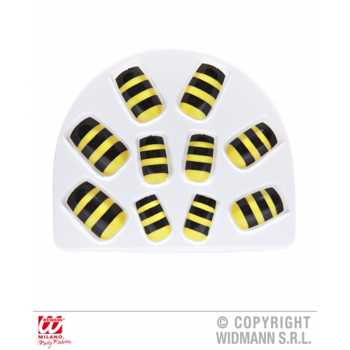 SET OF 10 BEE NAILS SFX for Bumble Wasp Insect Cosmetics