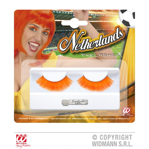 Holland Eyelashes Makeup for Football Sport Events Fan Supporters Stage Accessory