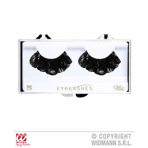 Black Lace Eyelashes Makeup for Accessory Stage Accessory