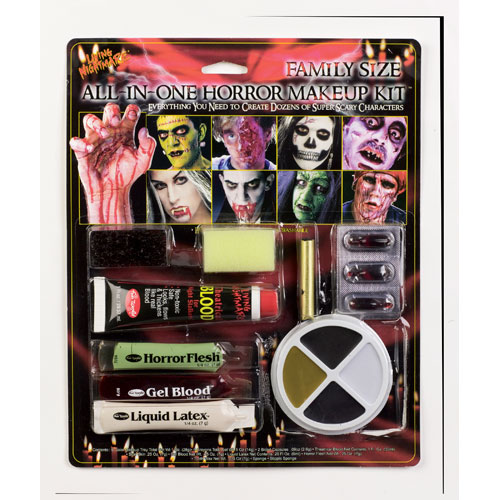 Family Size all in One Horror Kit Makeup for Fancy Dress