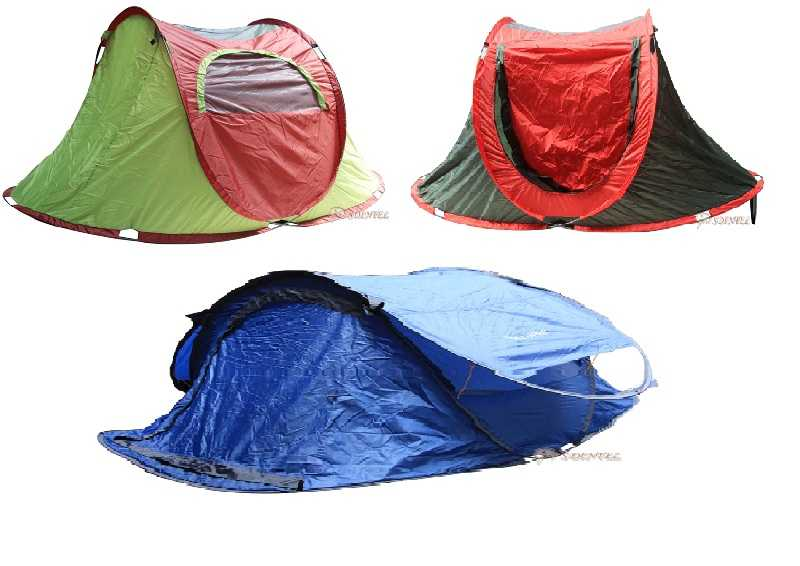 POP-UP ROUND 2 PERSON TENT 51 CAMPING FISHING FAMILY BEACH OUTDOOR ACTIVITY