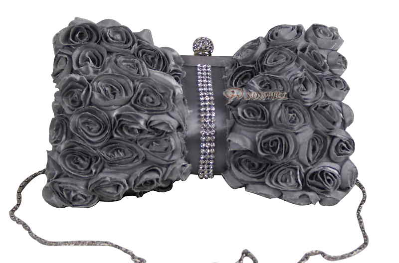 LADIES SATIN EVENING WEDDING PROM PARTY CLUTCH HANDBAG WOMEN GIRL BAG 12