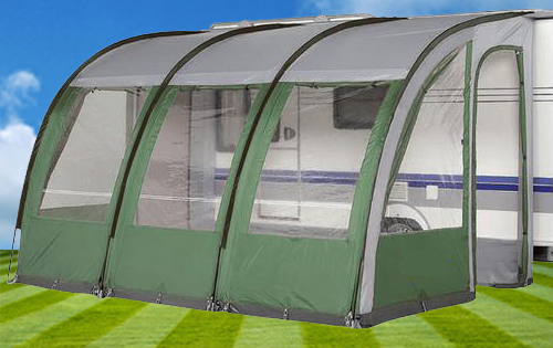 Caravan Awning Denver 390 Porch Motorhome Green 390cm