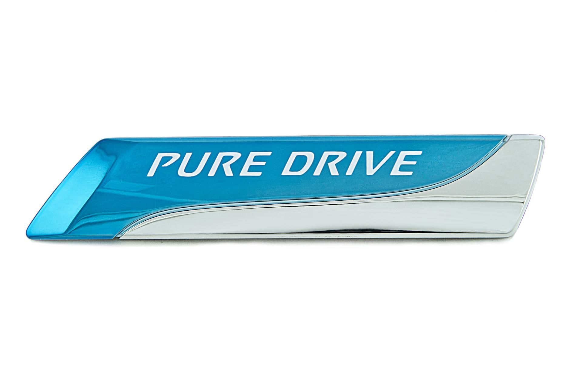 nissan genuine pure drive badge emblem rear for tailgate. Black Bedroom Furniture Sets. Home Design Ideas