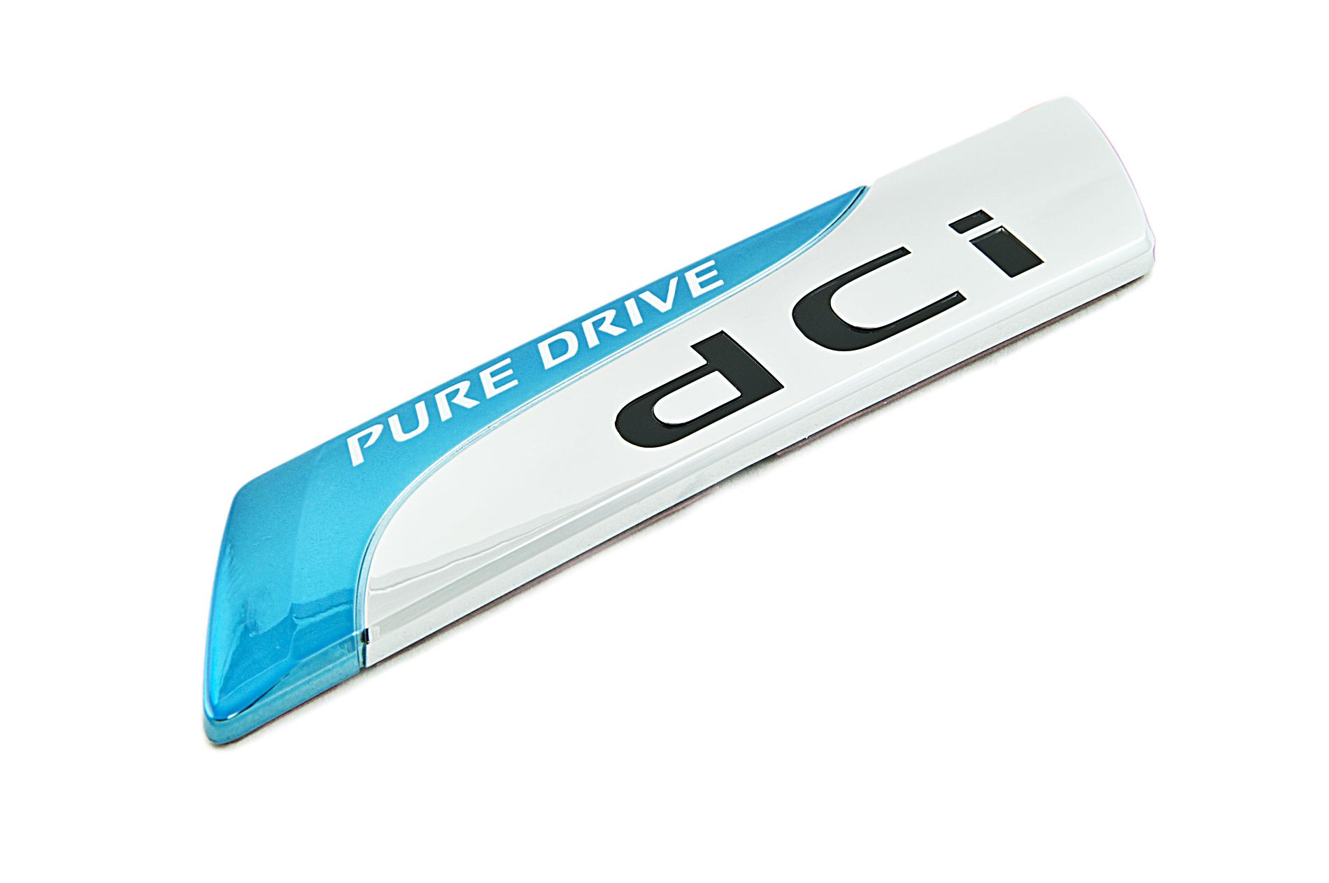 nissan genuine pure drive dci badge emblem rear for boot. Black Bedroom Furniture Sets. Home Design Ideas