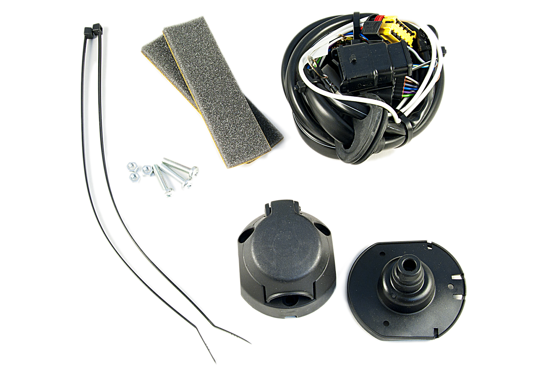 nissan genuine 7-pin electrical kit/wiring for tow bar ... 7 pin tow wiring