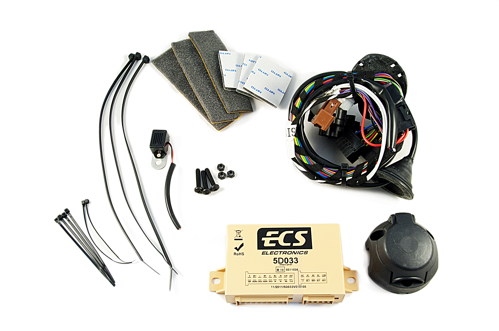 nissan 7 pin trailer wiring nissan genuine 7-pin electrical kit/wiring for tow bar ... #3