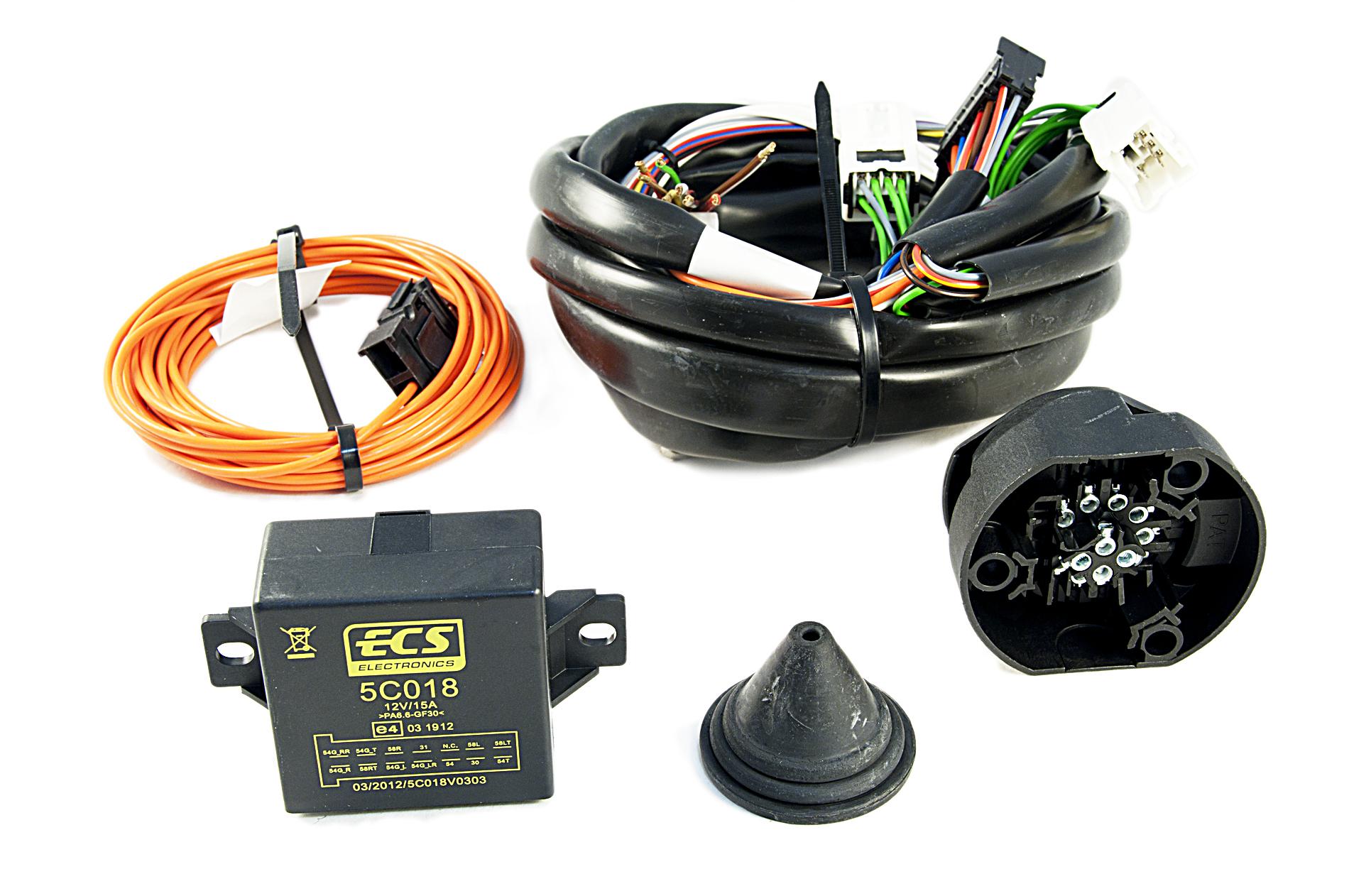 nissan genuine 7 pin electrical kit wiring for tow bar towbar hitch ke505jg307 ebay