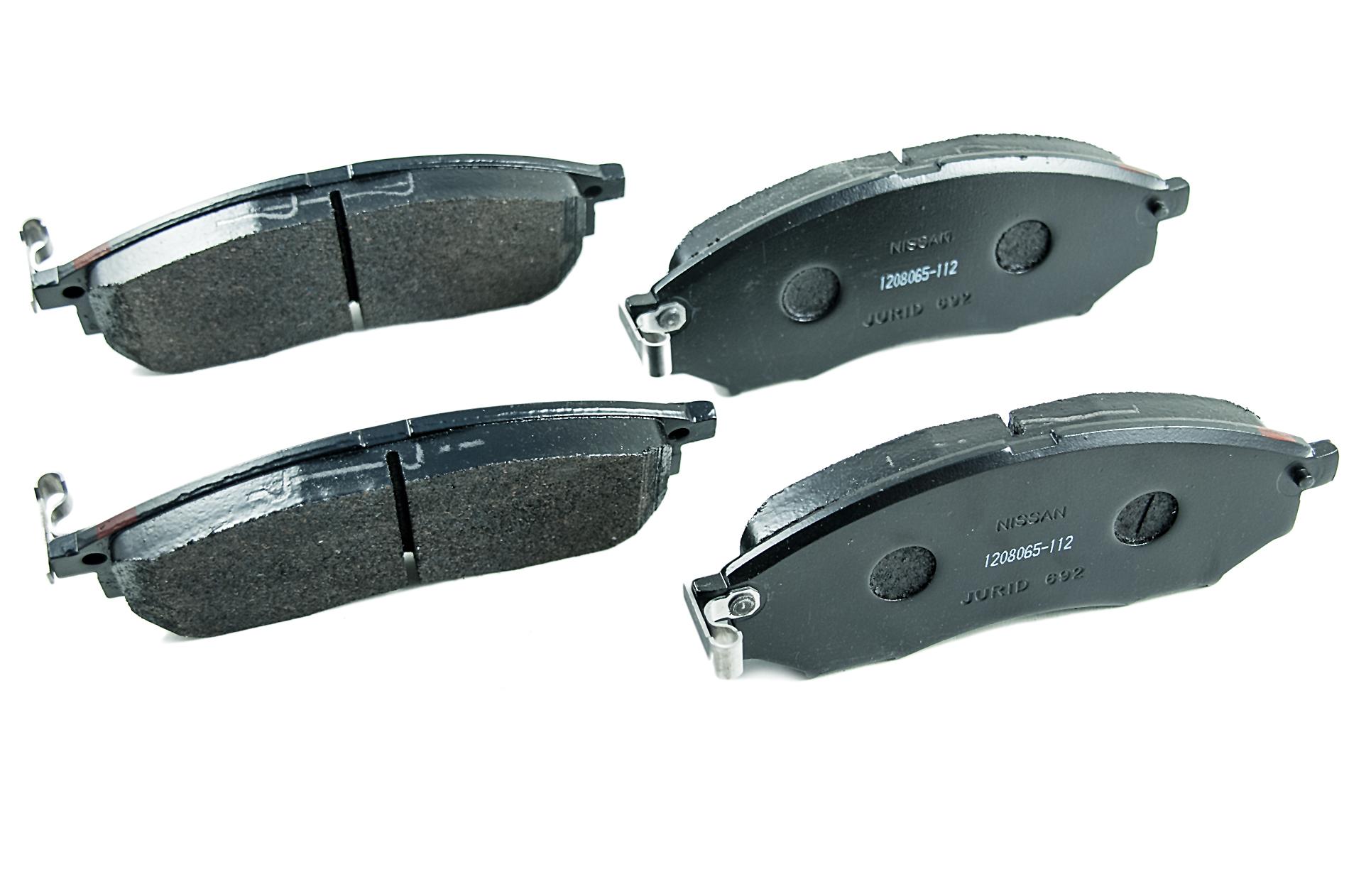 Brake Pad Replacement : Nissan genuine navara pathfinder front brake pads