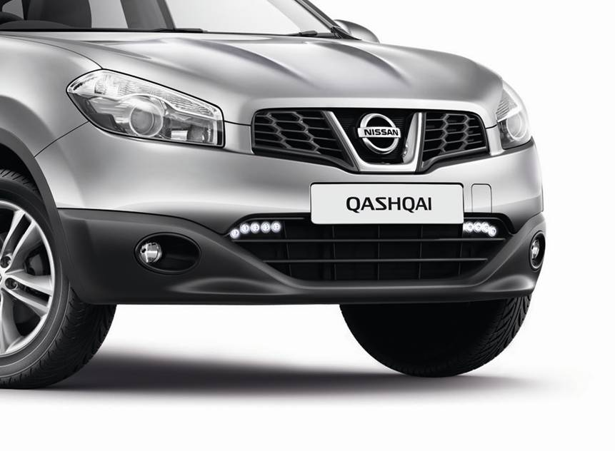 nissan qashqai genuine led daytime running lights drl. Black Bedroom Furniture Sets. Home Design Ideas