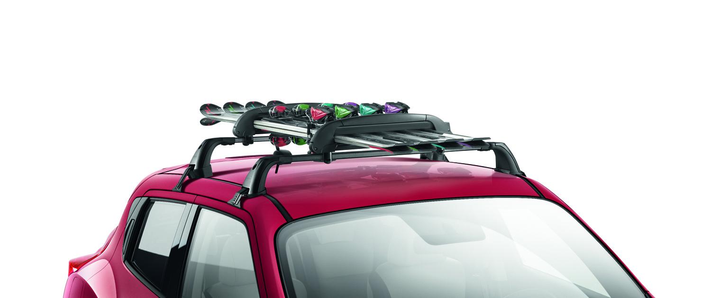 nissan genuine micra pixo note juke ski snowboard carrier 4 pairs ke73850002 ebay. Black Bedroom Furniture Sets. Home Design Ideas