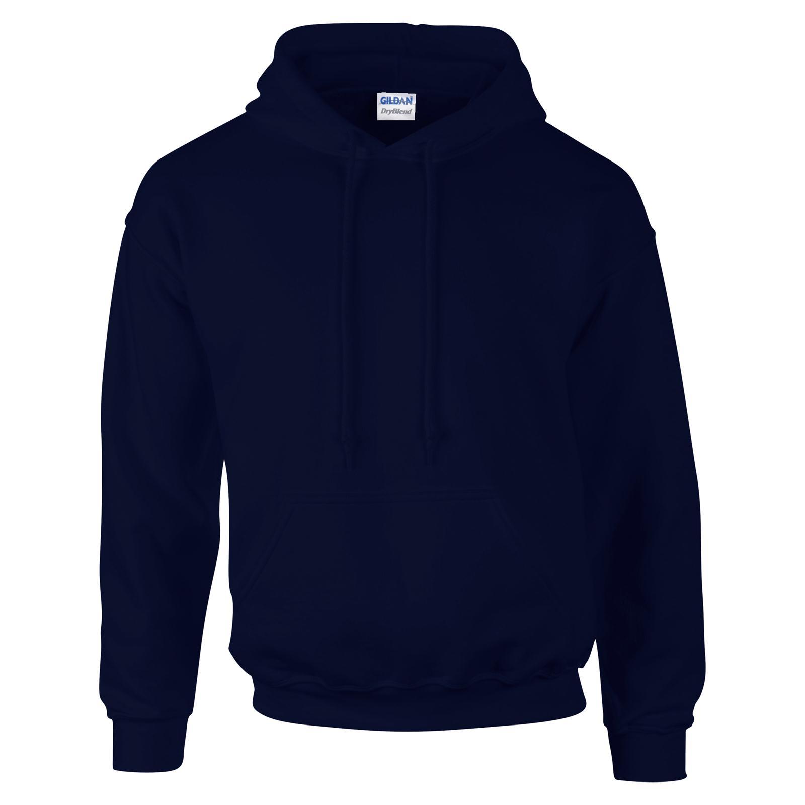 GILDAN Unisex Adults Dry Blend Hoodie Hooded Sweatshirt 14 Colours ...