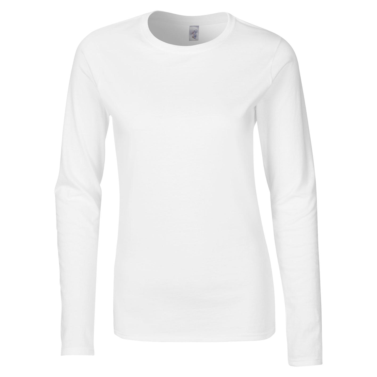 New GILDAN Womens Ladies Soft Style Cotton Long Sleeve T Shirt in ...