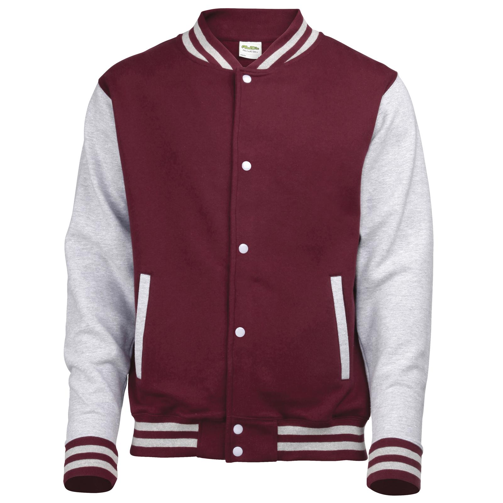 New AWDis Childrens Kids Varsity College Baseball Jacket in 10 ...