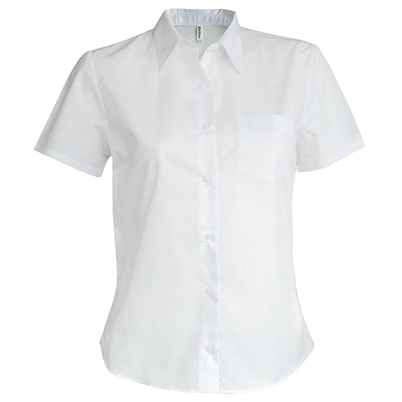 New Kariban Womens Ladies Casual Short Sleeve Oxford Shirt