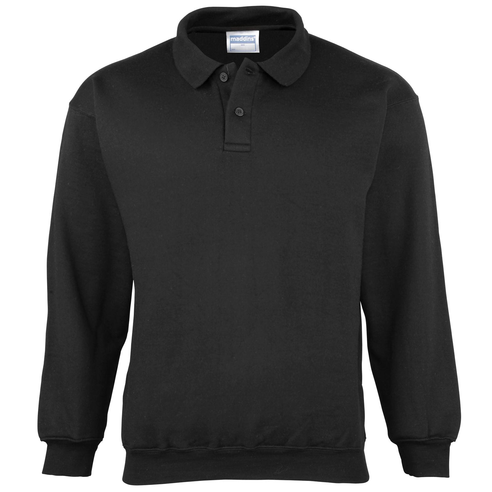 New maddins coloursure long sleeve polo shirt pisquet for Xxl long sleeve t shirts