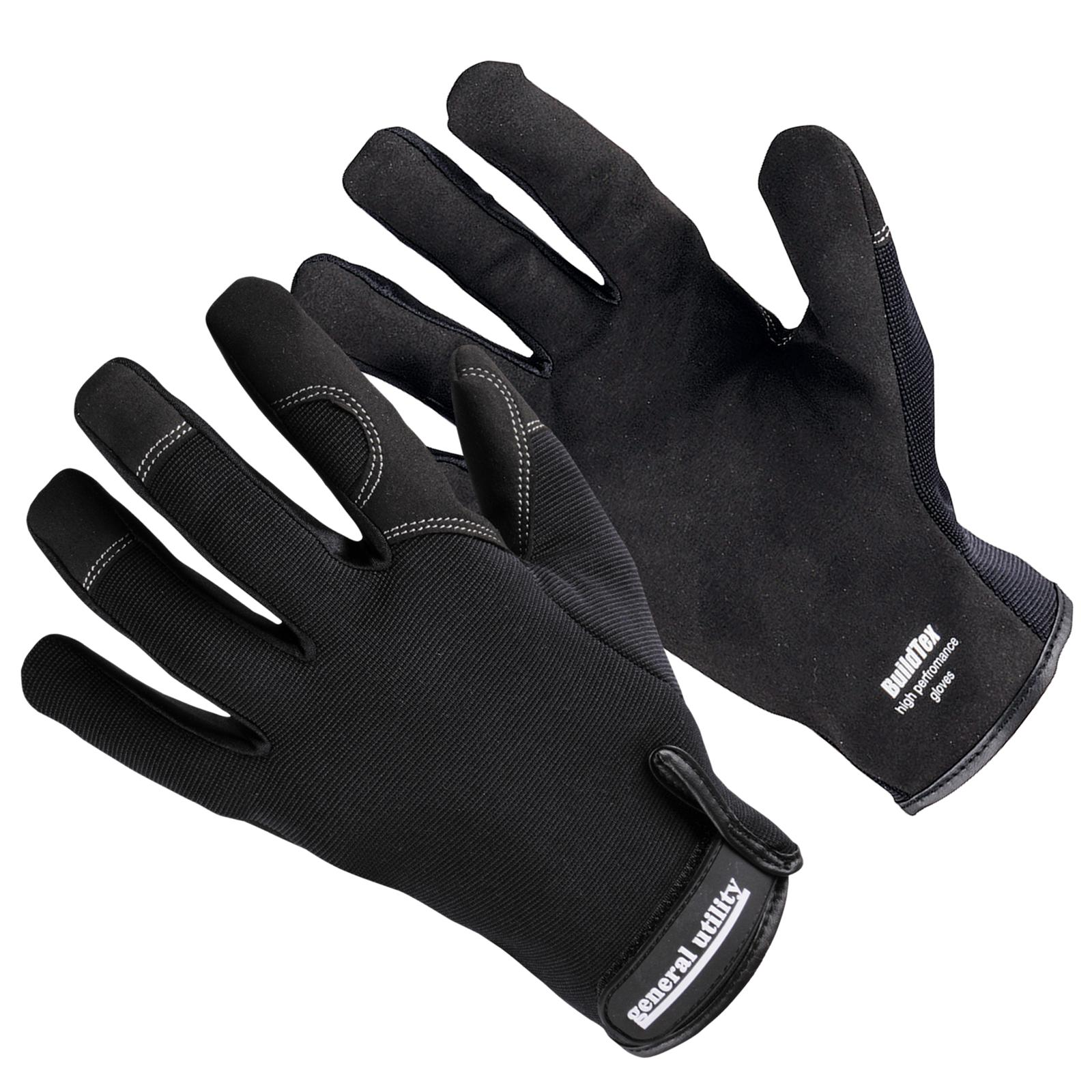 Mens sizes in gloves - New Portwest Mens General Utility High Performance Work Gloves Black 2 Sizes