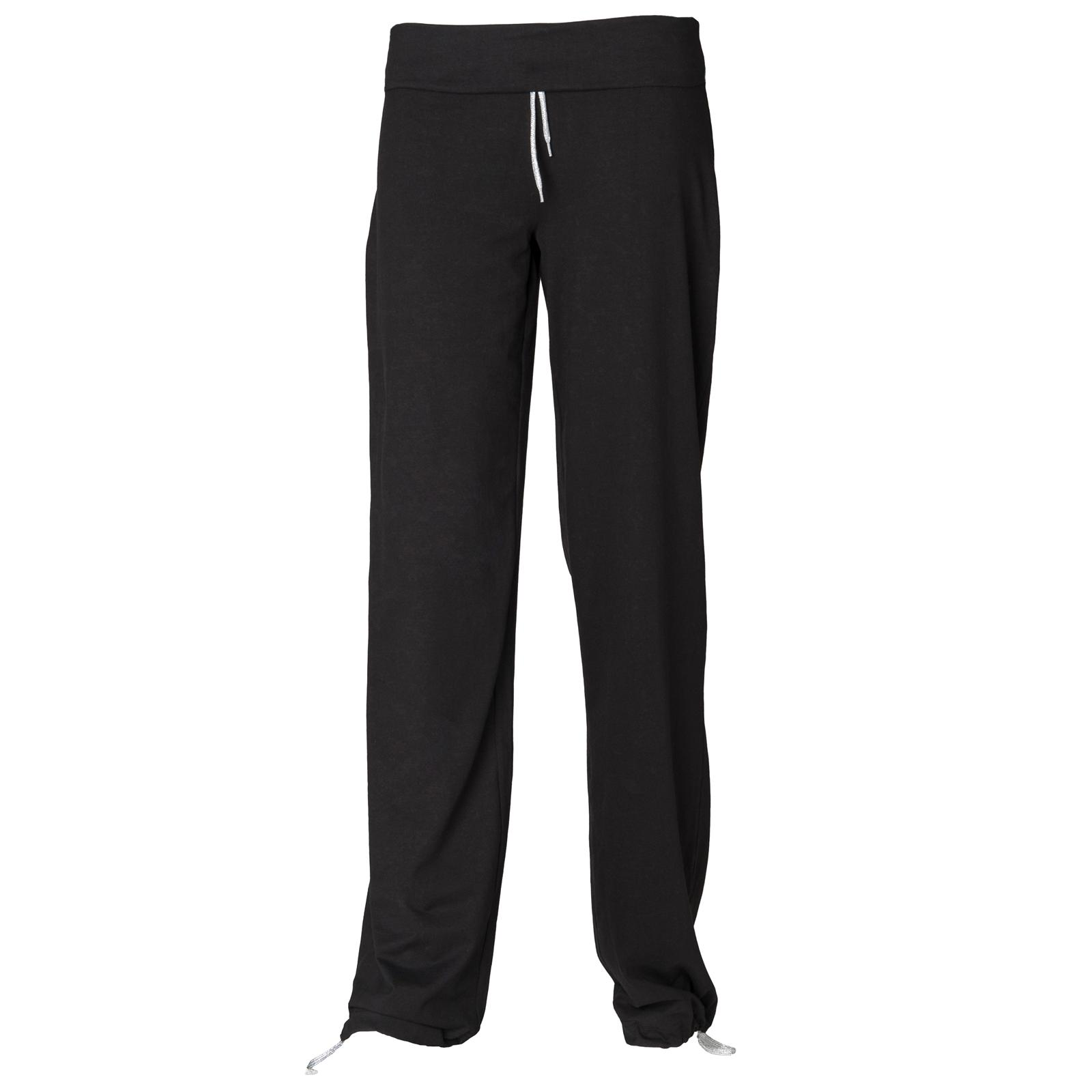 New-Skinni-Fit-Womens-Ladies-Fitness-Sports-Slounge-Tie-Up-Jog-Pants-Black-S-XL