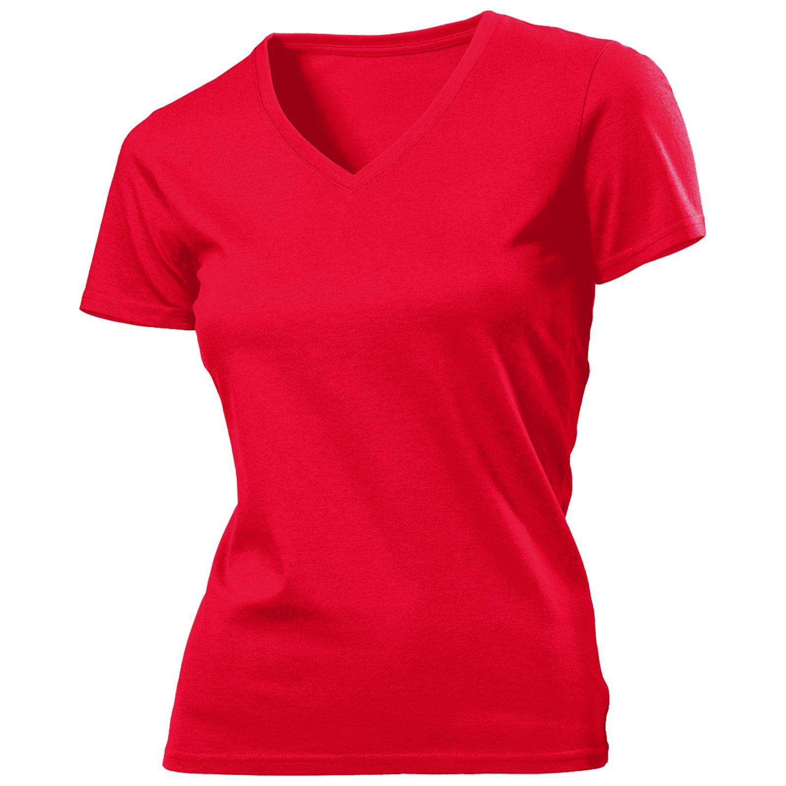 New hanes womens ladies organic soft cotton v neck t shirt for Soft cotton dress shirts