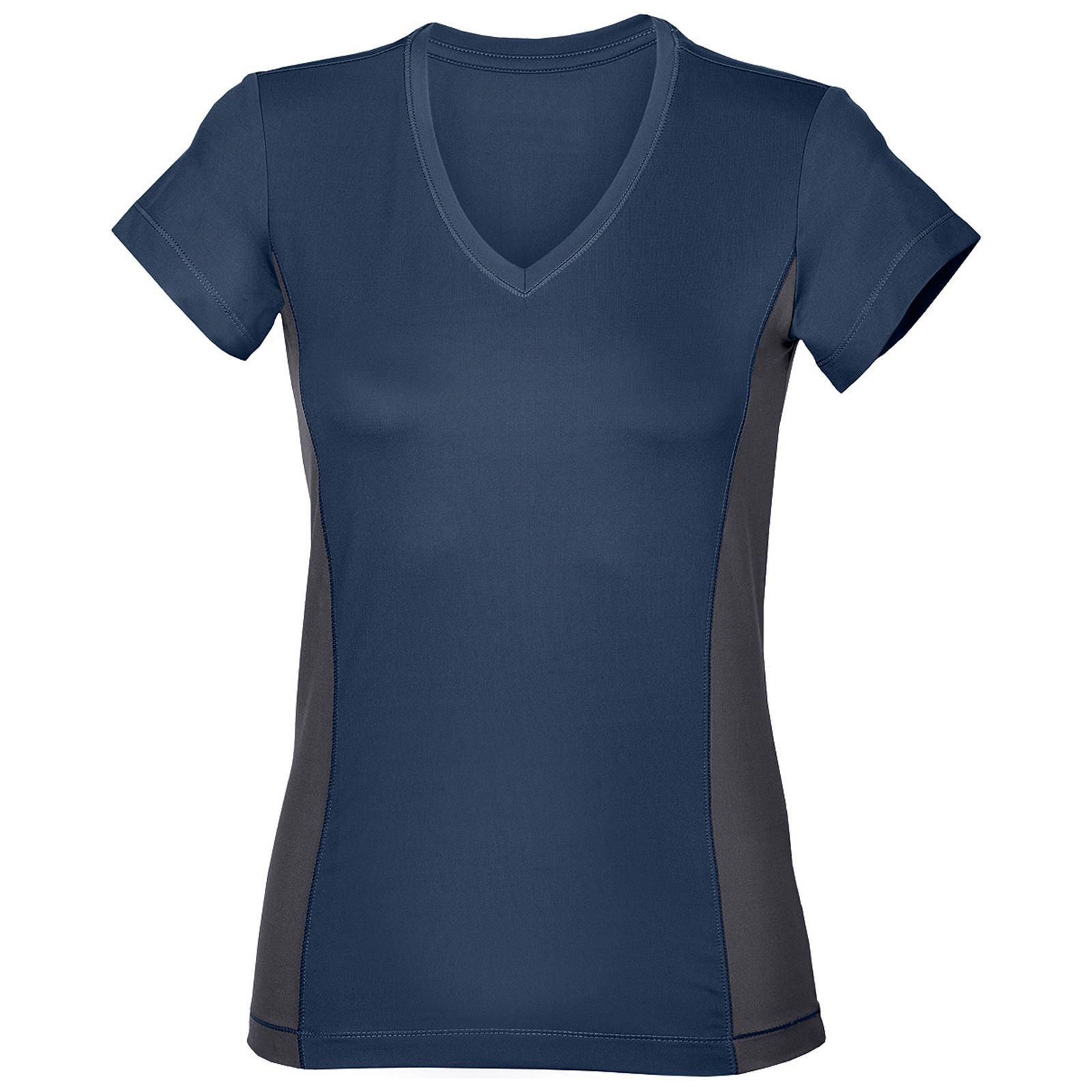 Black t shirt hanes - New Hanes Womens Ladies Sports Gym V Neck