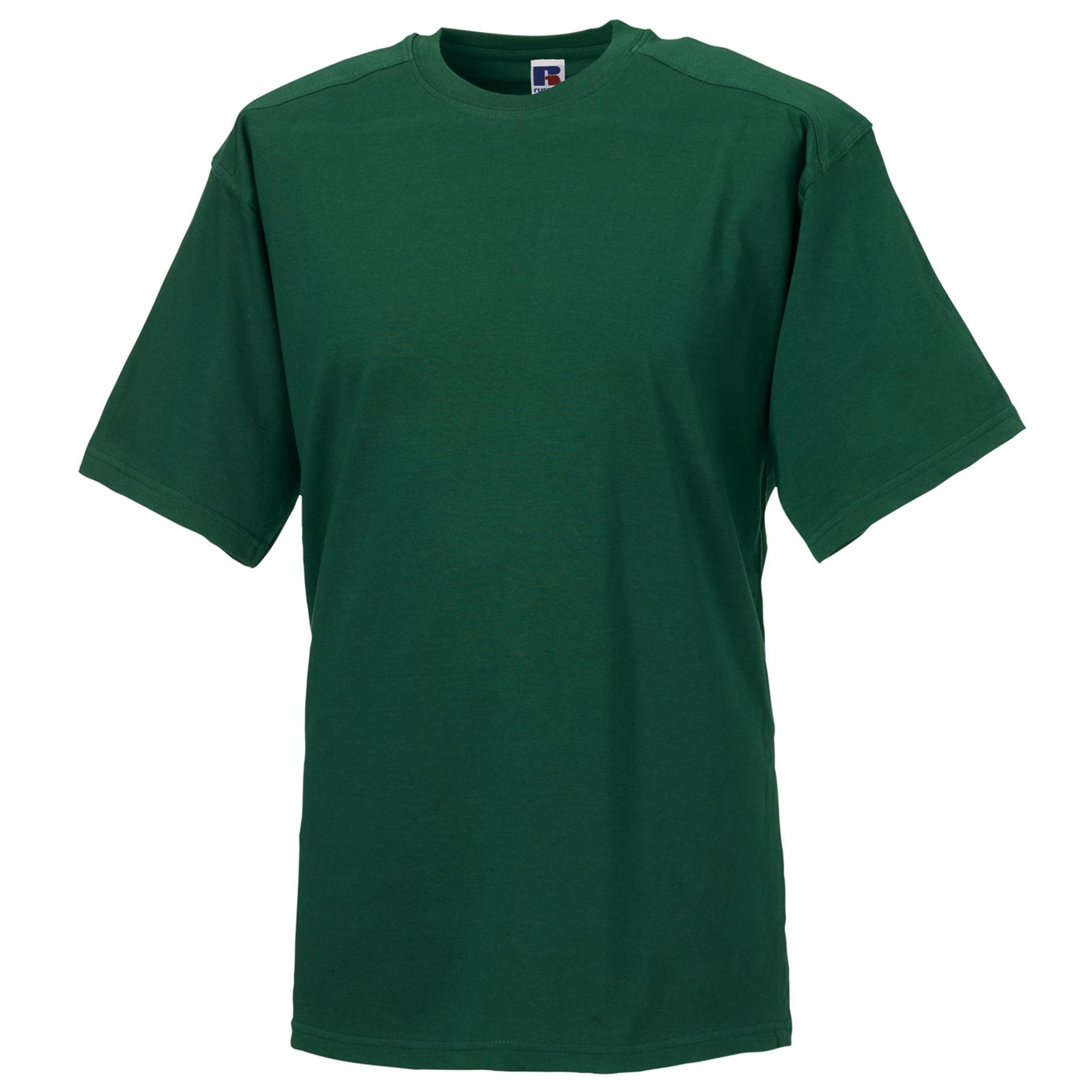 russell mens workwear heavy duty cotton t shirt 6 cols xs