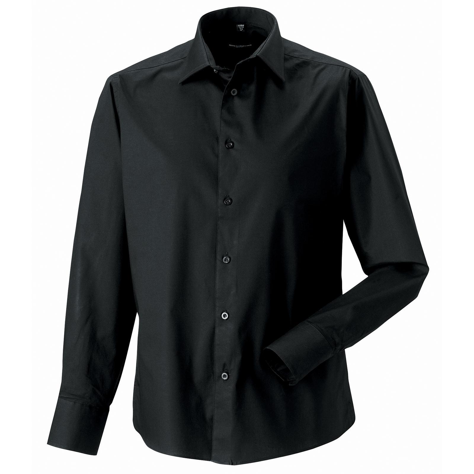 Nuovo Russell Collection Maniche Lunghe Aderente Camicia In 4 Colori S 4XL
