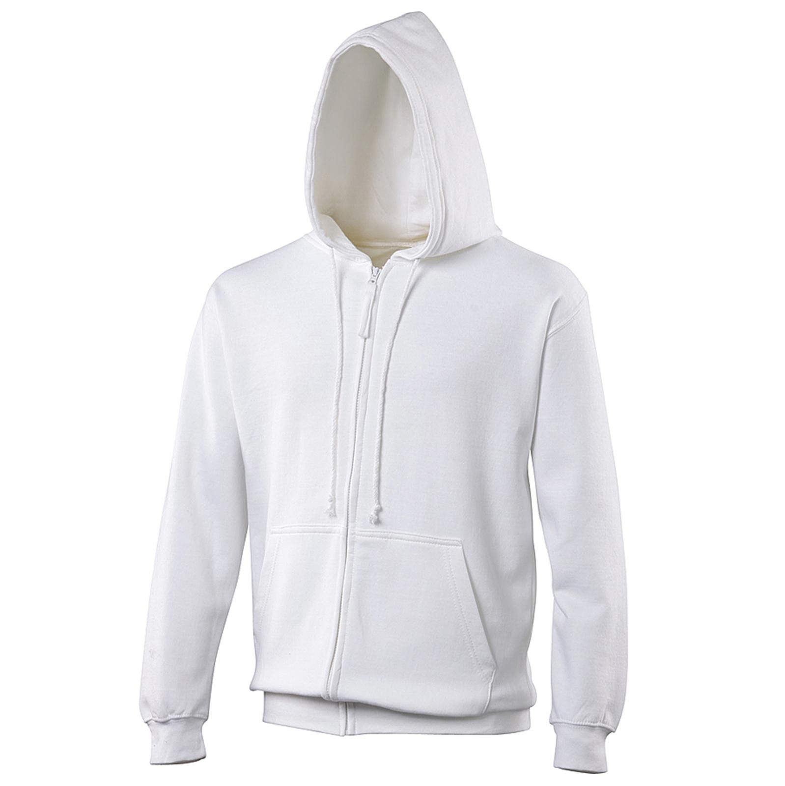 New Mens AWDis Polycotton Full Zip Up Cord Double Fabric Hood ...