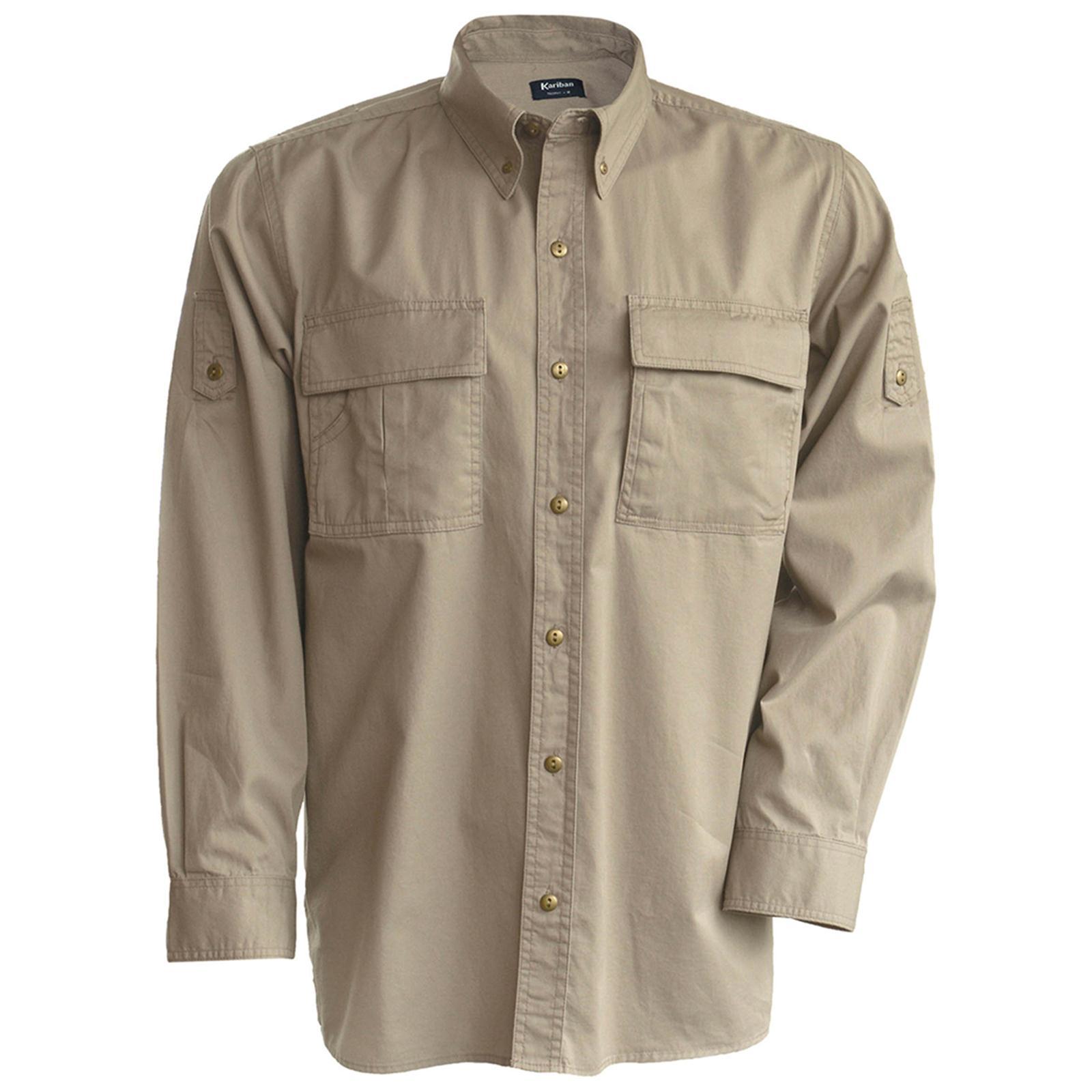 New-KARIBAN-Trophy-Safari-Shirt-in-Beige-M-2XL
