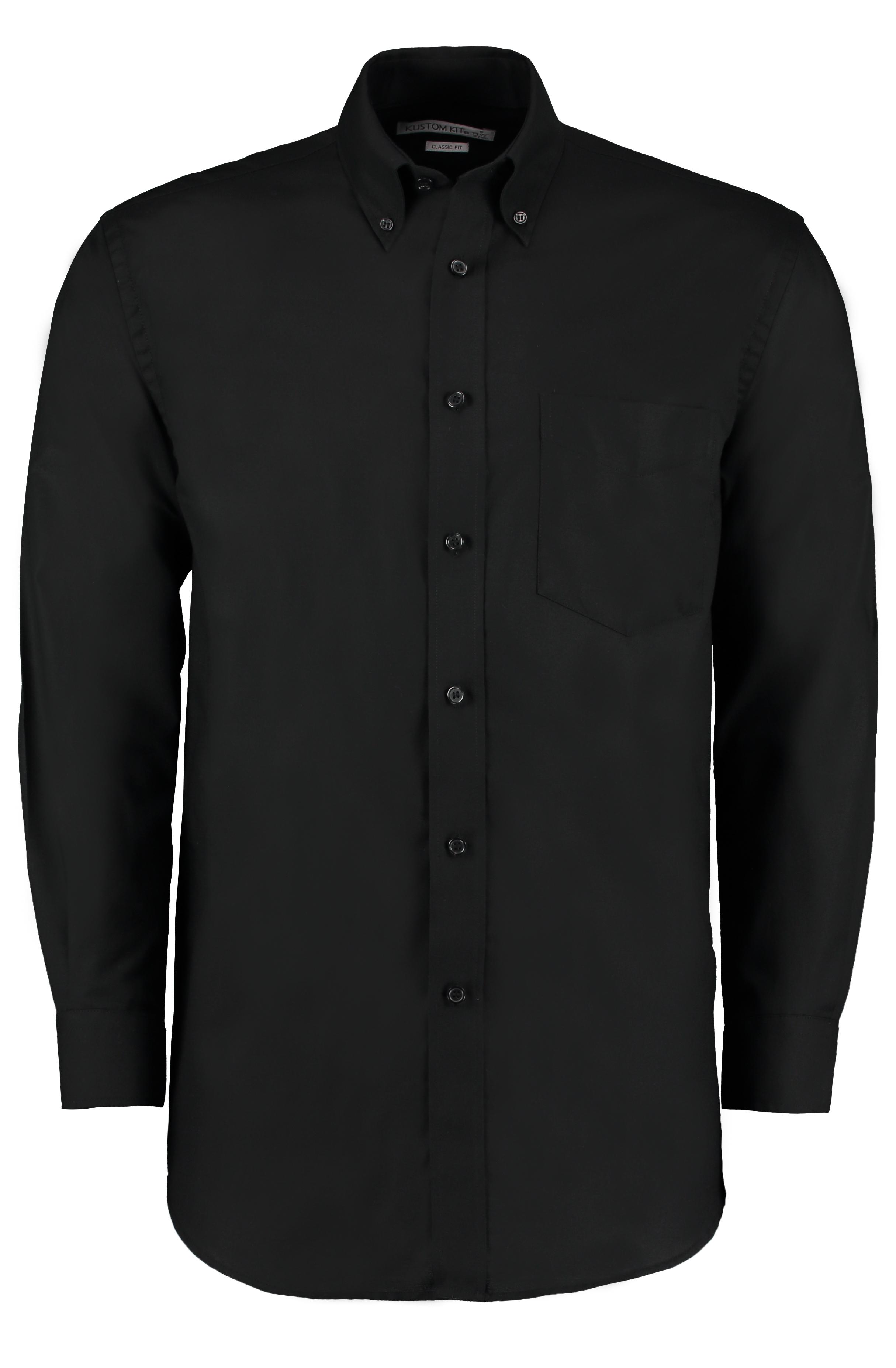New Mens KUSTOM KIT Polycotton Workplace Oxford Shirt Long Sleeve Size  14.5-23