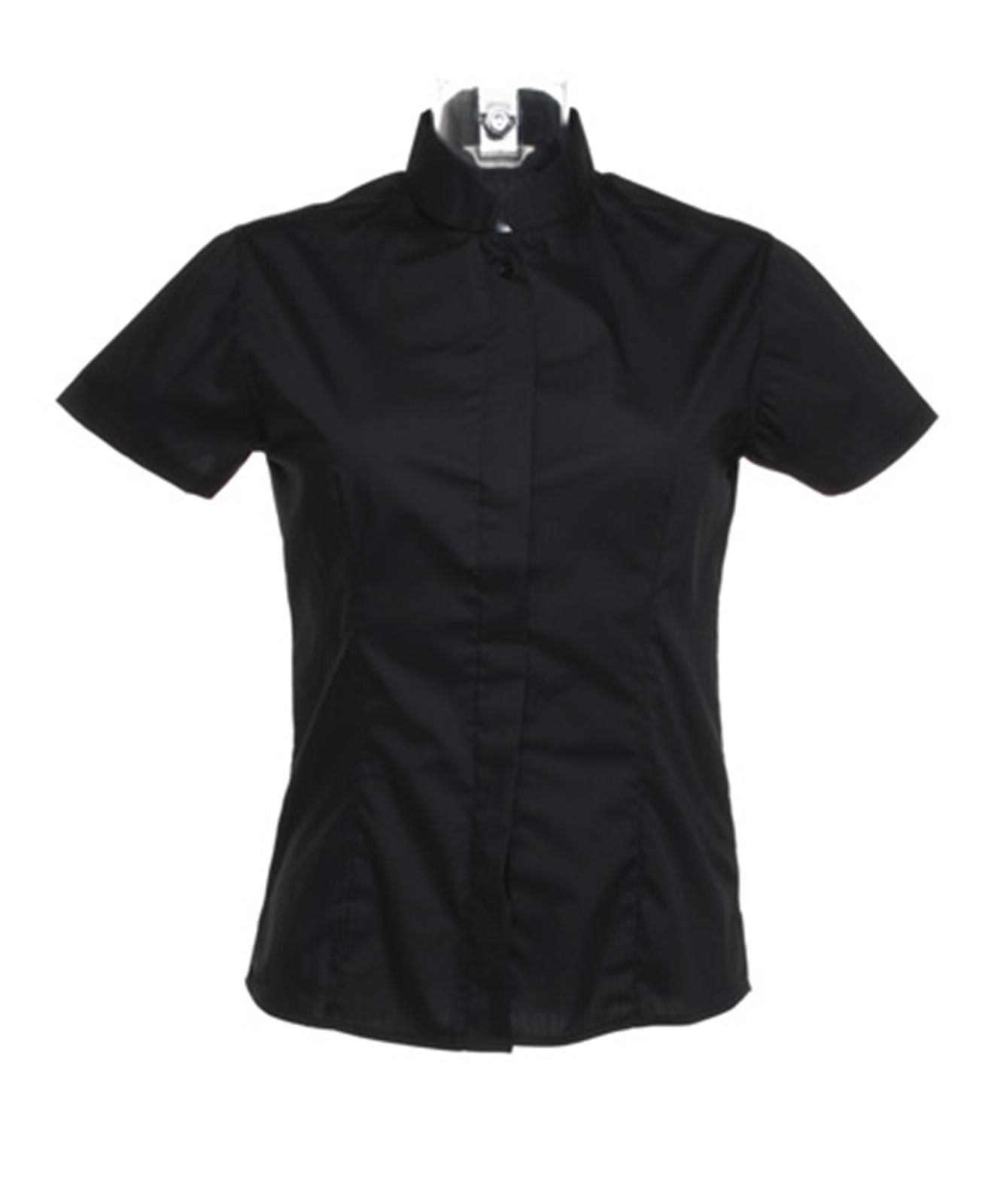 New Bargear Ladies Womens Bar Mandarin Collar Short Sleeve