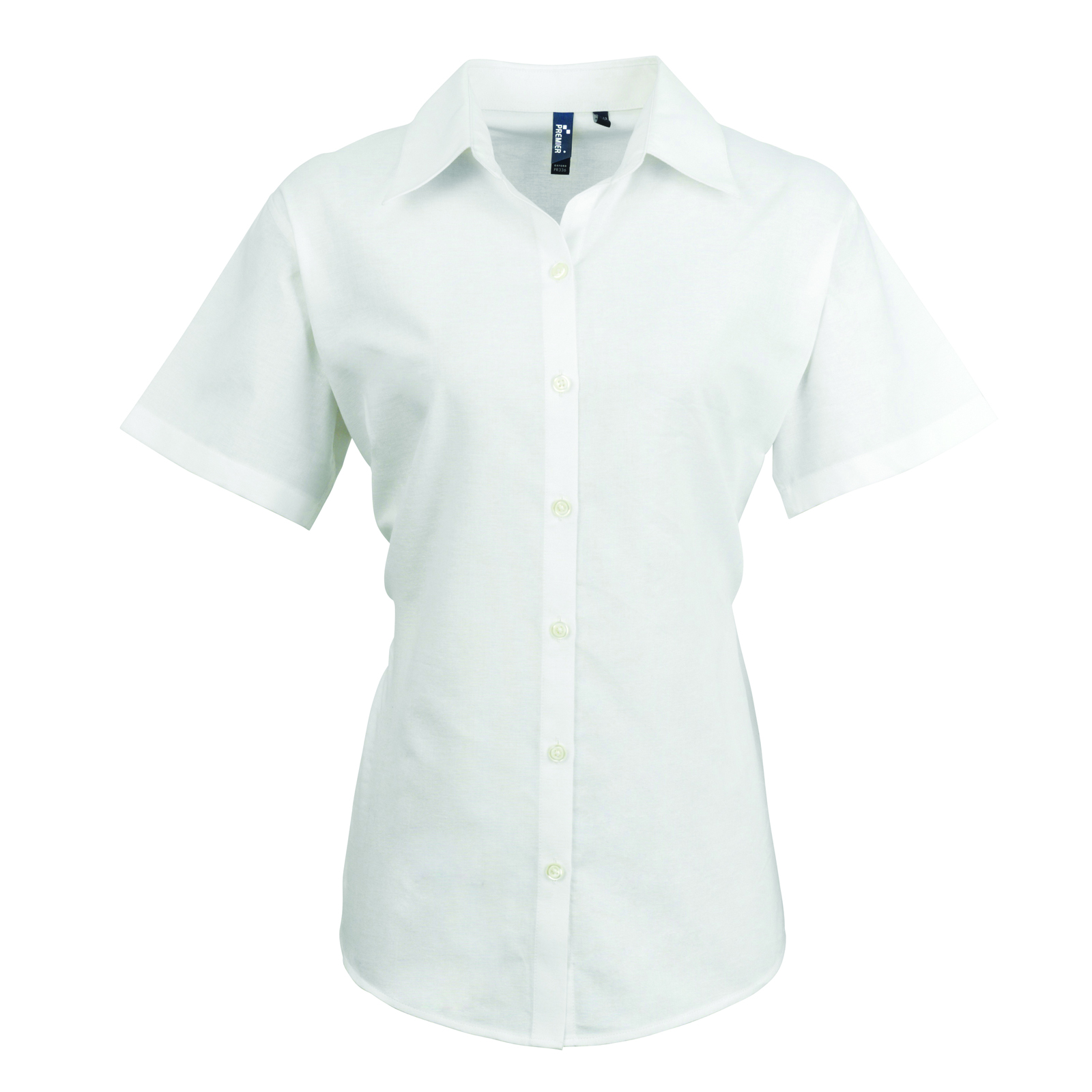 New Premier Womens Smart Oxford Ladies Short Sleeve